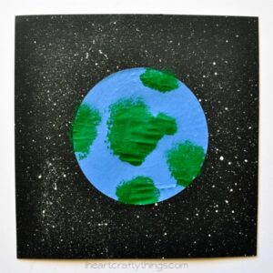 Cupcake Liner Earth Day Craft for Kids