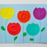 Cupcake Liner Tulip Kids Craft