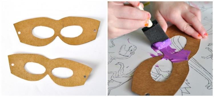 Cardboard Masks To Decorate Delectable Diy Cardboard Superhero Masks  I Heart Crafty Things Decorating Design