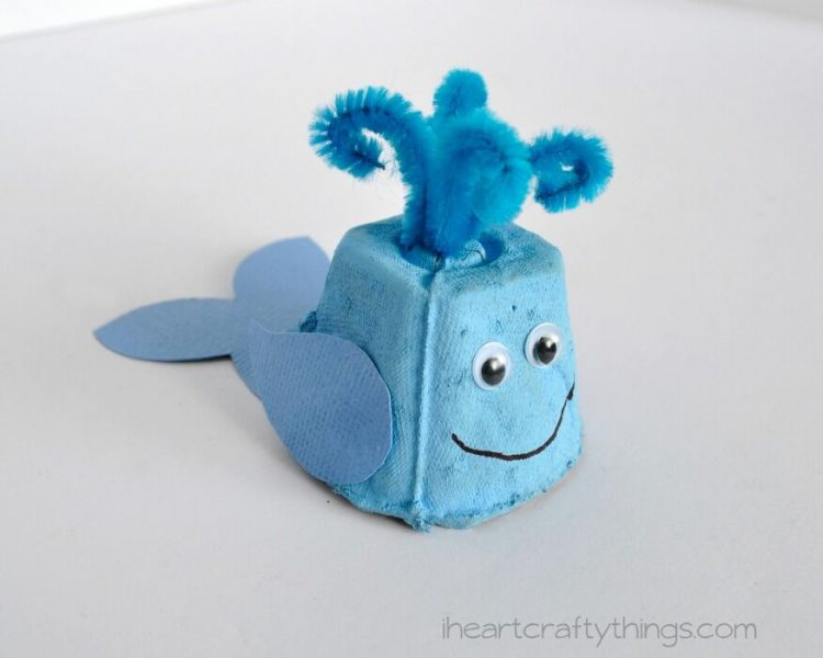 This Egg Carton Whale Craft is not only fun for the kids to make, but it makes for an adorable recycled craft!
