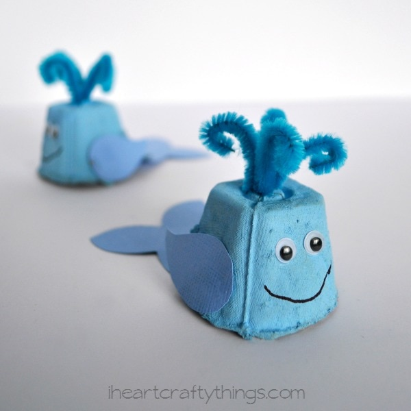 egg carton whale kids craft i heart crafty things