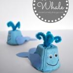 Egg Carton Whale Kids Craft