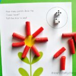 Preschool Math Activity: Flower Dice Game Printable