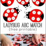 Ladybug Alphabet Match Activity (with free printable)