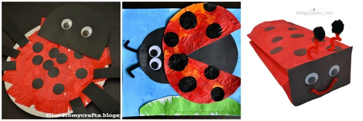 12 lovely ladybug crafts for kids i heart crafty things for Ladybug arts and crafts