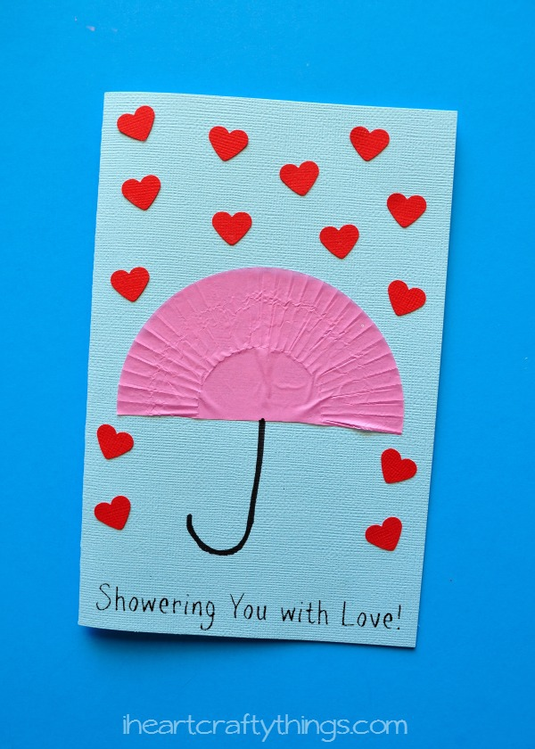 Showering you with love mother 39 s day card i heart for Mother s day craft kits