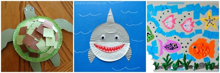 15 Fantastic Ocean Themed Kids Crafts I Heart Crafty Things