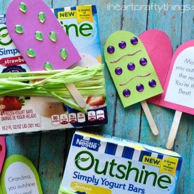 Outshine Simply Yogurt Bars DIY Mother's Day Gift