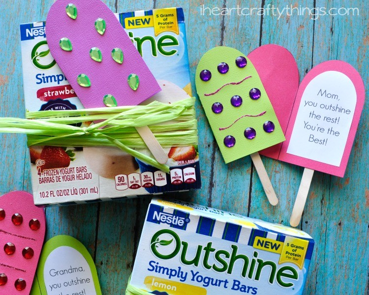 Outshine simply yogurt bars diy mother 39 s day gift i for Things to do on mother s day at home