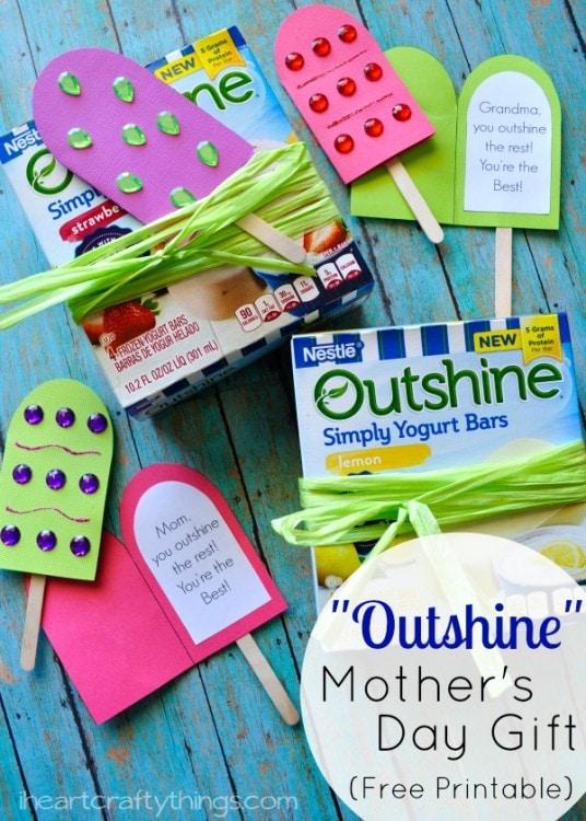 Outshine Simply Yogurt Bars DIY Mother's Day Gift | I Heart Crafty ...