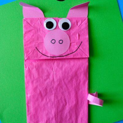 Paper Bag Pig Kids Craft