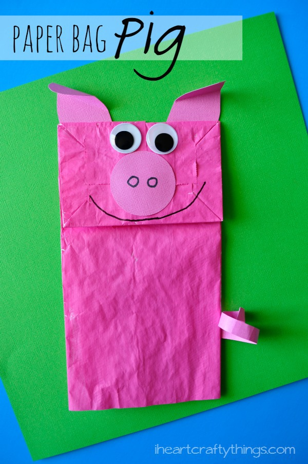 Paper Bag Pig Kids Craft I Heart Crafty Things