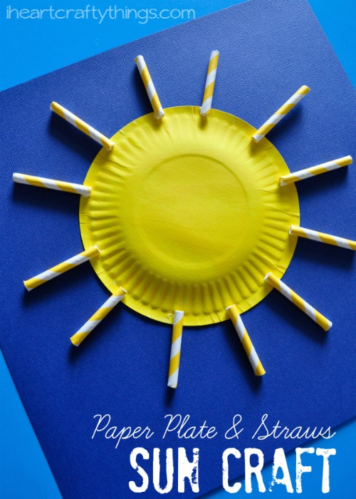 Paper Plate Sun Craft for Kids & Paper Plate Sun Craft for Kids | I Heart Crafty Things
