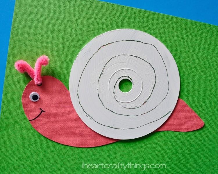 Cd Snail Craft For Kids