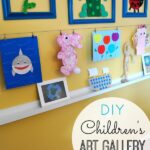 DIY Children's Art Gallery Wall