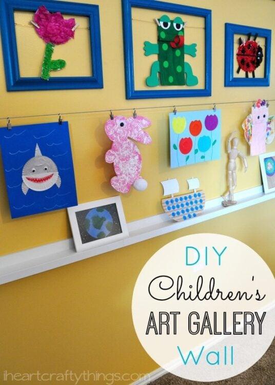 DIY Children\'s Art Gallery Wall | I Heart Crafty Things