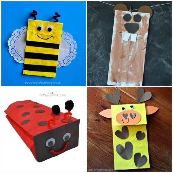 Brown Paper Bag Crafts For Kids Part - 18: 20 Paper Bag Animal Crafts For Kids
