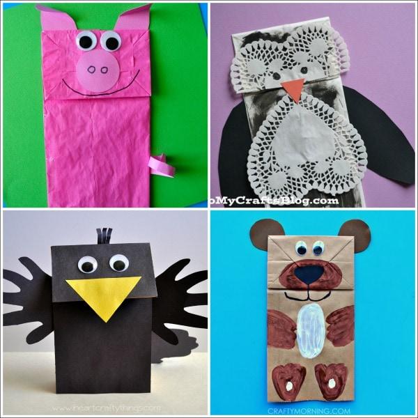 Paper Bag Craft Ideas For Kids Part - 16: 20 Paper Bag Animal Crafts For Kids
