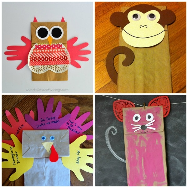 20 paper bag animal crafts for kids i heart crafty things sciox Choice Image