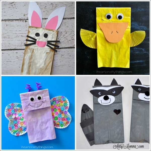 20 paper bag animal crafts for kids i heart crafty things for Animals art and craft for preschoolers