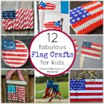Here are 12 fabulous American Flag Crafts for kids perfect for Fourth of July Crafts, Memorial Day Crafts and summer kid crafts.