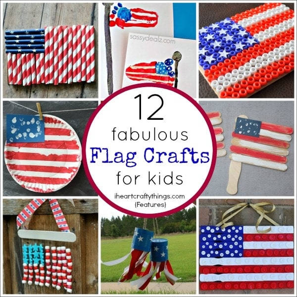 12 Fabulous American Flag Crafts for Kids | I Heart Crafty ... - photo#26