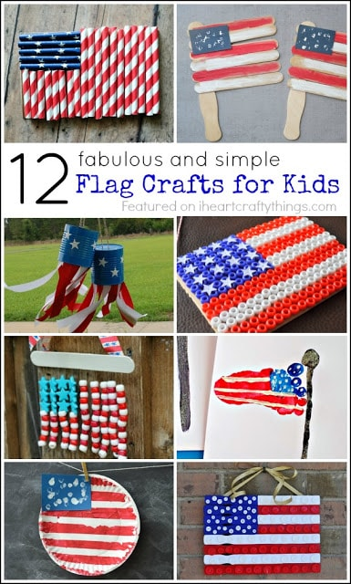 12 Fabulous American Flag Crafts For Kids I Heart Crafty Things