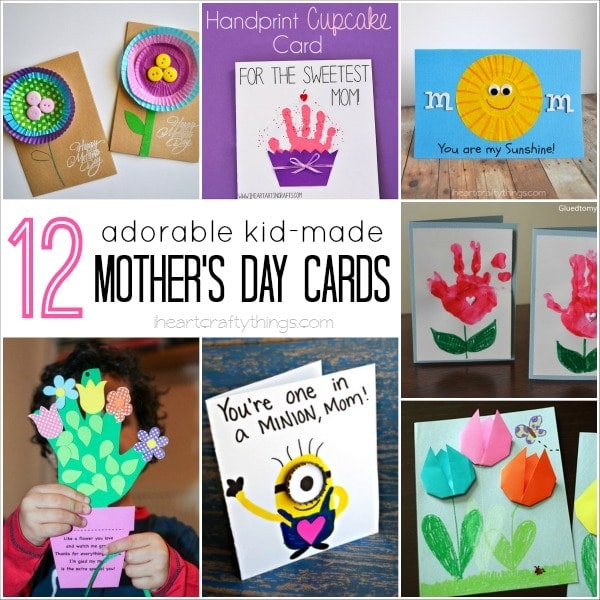 12 adorable kid made mother 39 s day cards i heart crafty for Mothers day cards from preschoolers