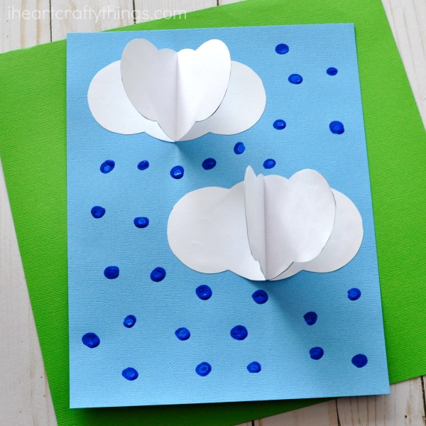 3d rain clouds craft  with free pattern