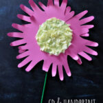 CD and Handprint Flower Craft for Kids