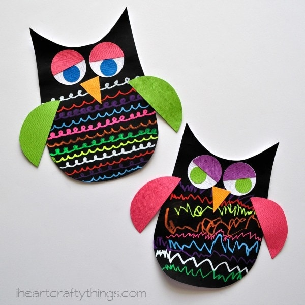 of the owl makes this a colorful owl craft for kids that you will proudly want to display in your home and treasure as a keepsake for years to come - Owl Pictures For Kids