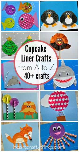 cupcake liner crafts from a to z i heart crafty things