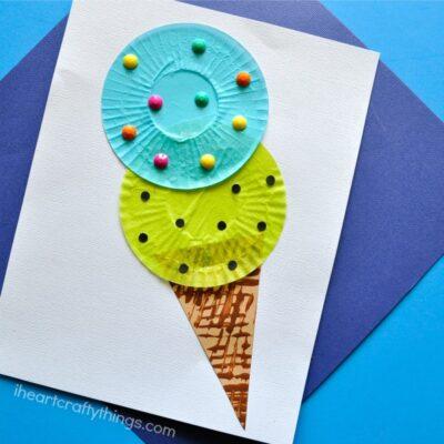 Cupcake Liner Ice Cream Cone Kids Craft