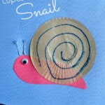 Cupcake Liner Snail Craft for Kids