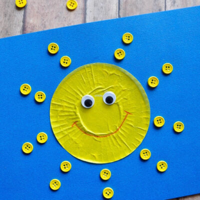 Cupcake Liner Sun Craft for Kids