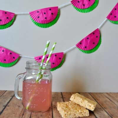 Cupcake Liner Watermelon Party Bunting