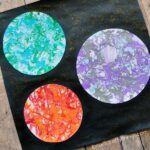 Preschool Space Craft: Marbled Planets Art