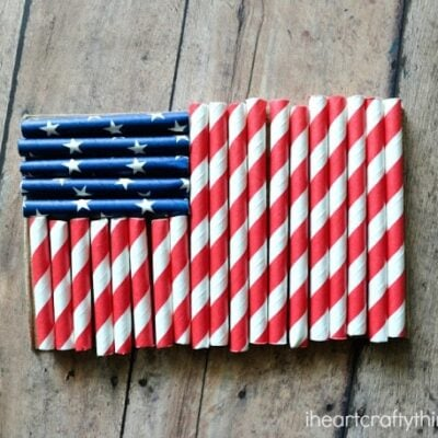 Simple Flag Craft for Kids made with Straws