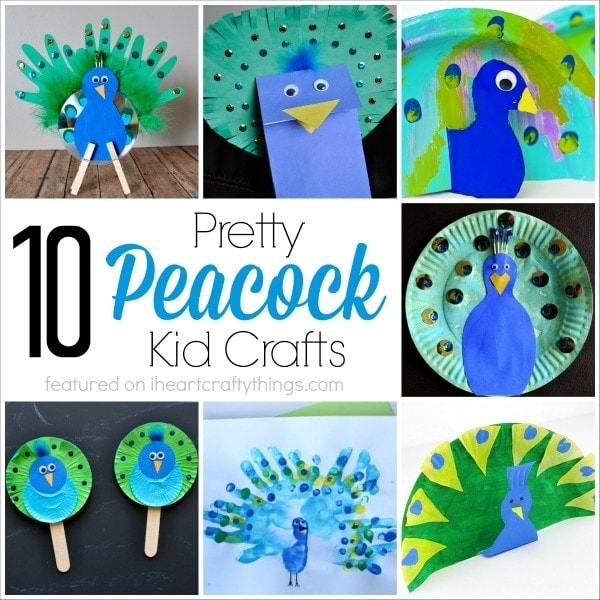 10 pretty peacock crafts for kids i heart crafty things for Peacock crafts for adults