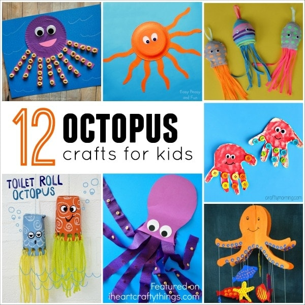 12 Outstanding Octopus Crafts For Kids on Paper Plate Winter Animal Crafts