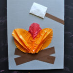 Cupcake Liner Campfire Craft for Kids