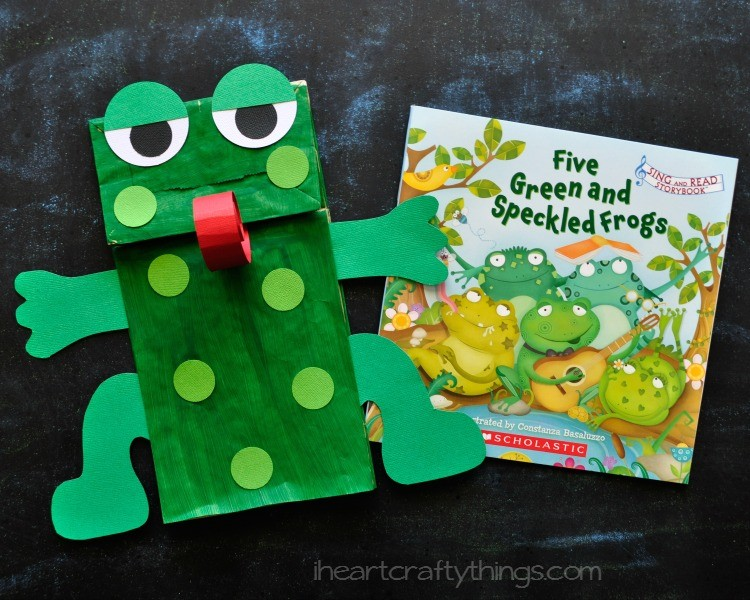 Paper Bag Frog Puppet With Free Pattern I Heart Crafty Things