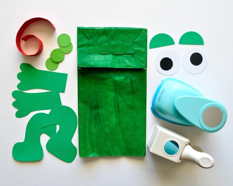 Paper Bag Frog Puppet With Free Pattern I Heart Crafty
