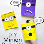 DIY Minion Puppets for Kids made with an Envelope