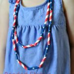 DIY Patriotic Kids Necklace