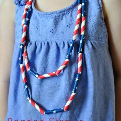 DIY Patriotic Kids Necklace