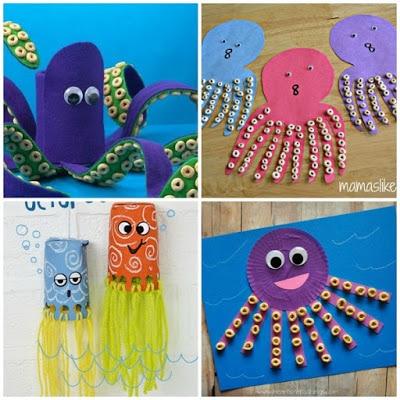 12 Outstanding Octopus Crafts For Kids on Antarctic Animals Preschool
