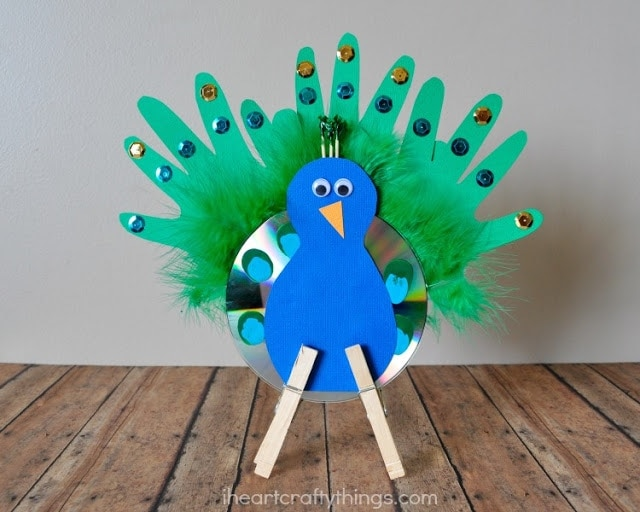 We Turned A CD Into Bright And Colorful Peacock Craft For Kids It Is Fantastic To Make After Visiting The Zoo Or When Learning About Birds