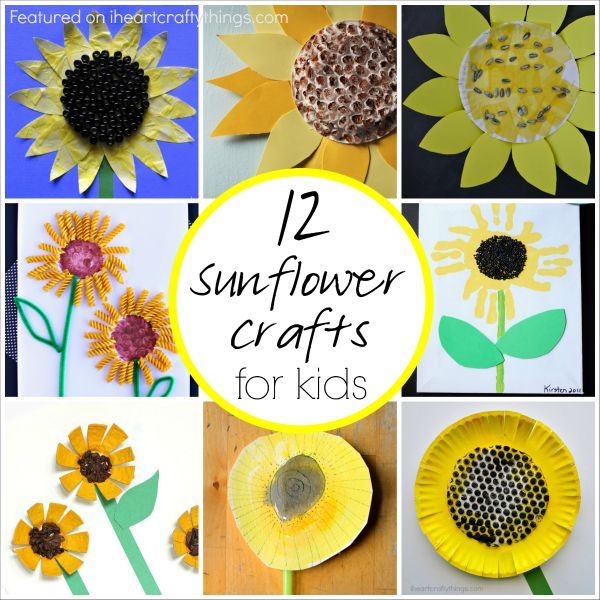 12 Sunflower Crafts For Kids I Heart Crafty Things