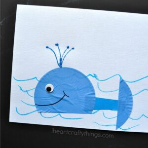Cupcake Liner Whale Craft for Kids